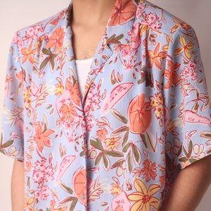 """VTG """"Donna Kenny"""" Fruit & Floral Spring/Summer Top"""